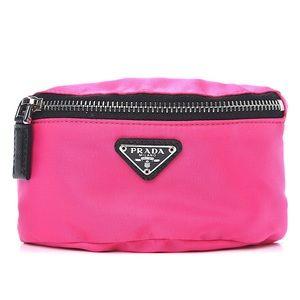 PRADA Tessuto Nylon Pink Mini-Pouch NWT